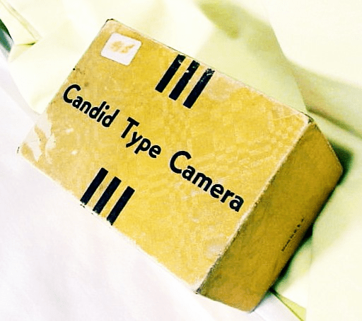 Box for Candid Type Camera & Instructions M&M CO (49S)