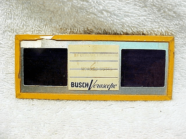 Busch Verascope Stereo Slide (Cover glass cracked on one end) by Howard Butts