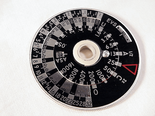 Calculator dial for Weston Master IV meters