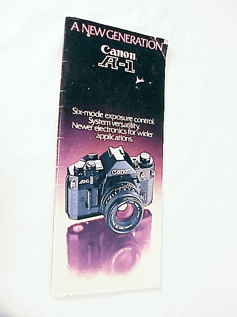 Canon A1 Systems Booklet (Original)