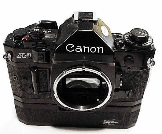 Canon A1 with Generic Power Winder