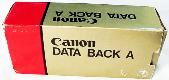 Canon Data Back A (for A series cameras)