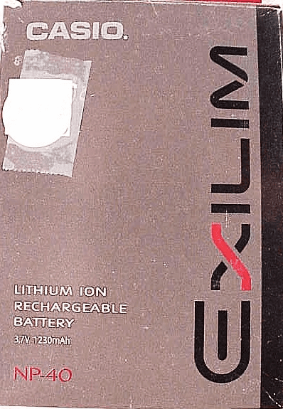 Casio Exilim NP40 Battery (new)