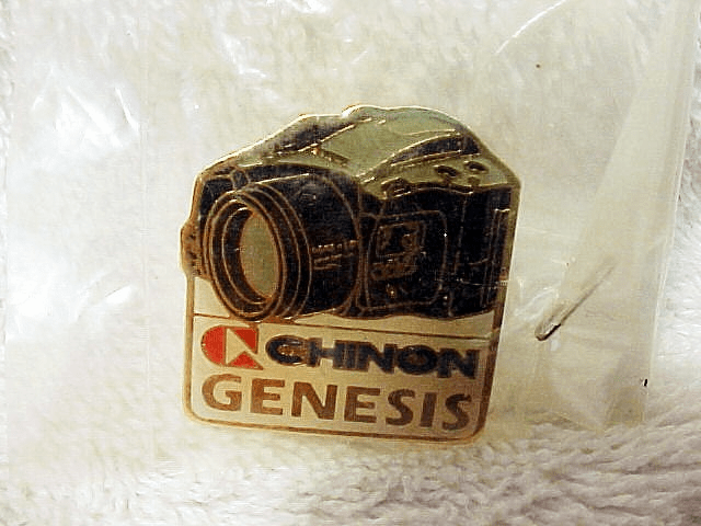 Chinon Genesis Enamel Dealer Pin
