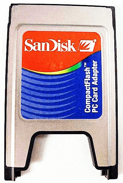 Compact Flash Cards  to PC adapter by San Disk