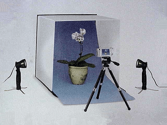 Compact Table Top Photo Studio (with tripod & 2 lights)