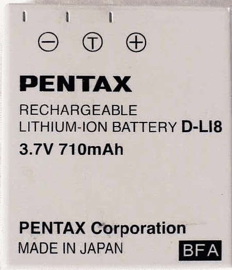 D-L18 Pentax Brand Nicad for Optio S (used)