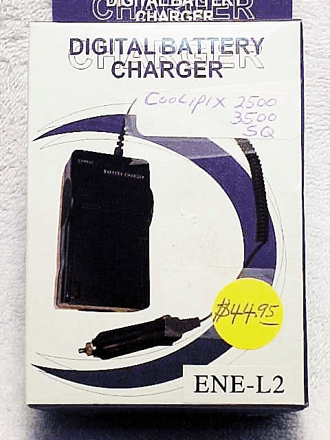ENEL2 generic brand Battery Charger for Coolpix 2500 3500 SQ