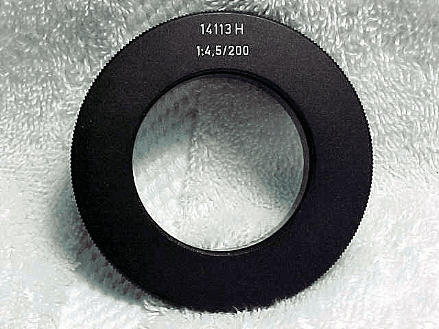 Extension Ring for 1:4,5/200mm on VISO III (No 113)