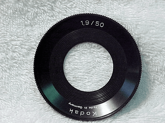 Filter Ring for 50mm f1.9 Lenses on Retina Reflex Cameras