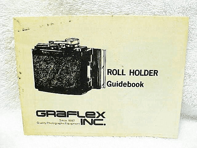 Graphic Roll Holder Instructions, 4pgs (Xerox copy)