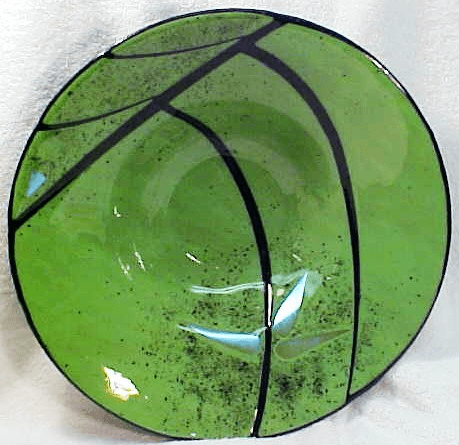 Green with Black highlights Bowl (No 10)