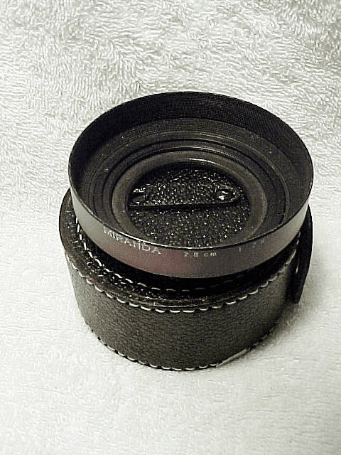 Hood for 2.8cm f2.8 Miranda Lens with leather case