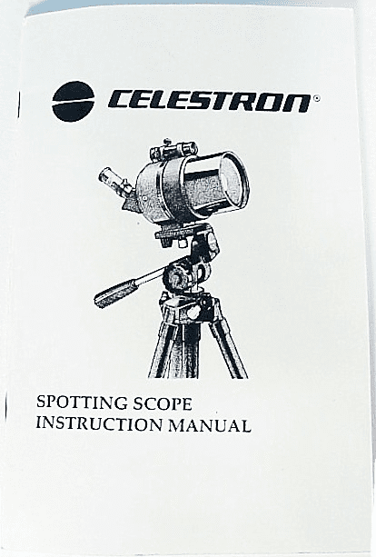 Instructions for Celestron (42pgs) xerox