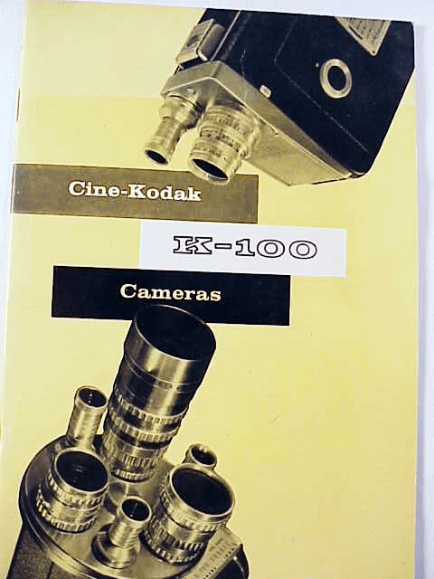 Kodak K100 Instruction Booklet (original)