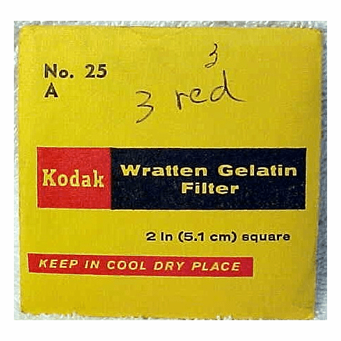 Kodak Wratten Gelatin Filters for Bolex 8/16mm <br>(All Types) (No 29)