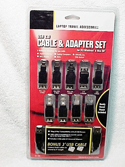 Laptop/Camera Cable Adapter Kit New