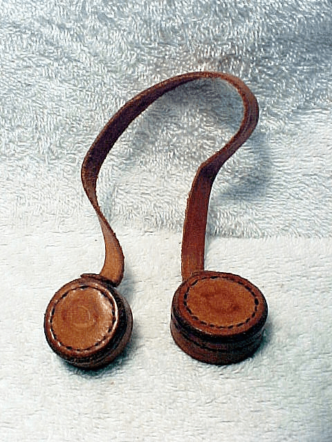 leather telescope end covers