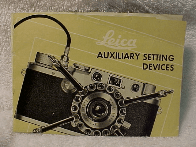 Leica Auxilary Setting Devices,  7pgs, 1955