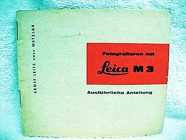 Leica M3 instructions (in German), 1960, 31pgs