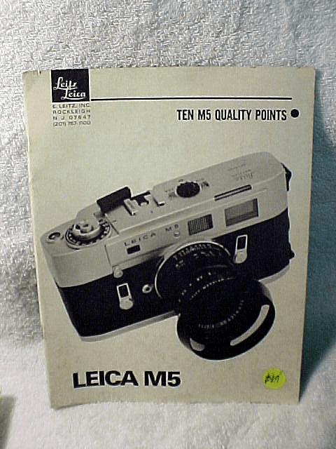 "Leica M5 Booklet ""Ten M5 Quality Points"""