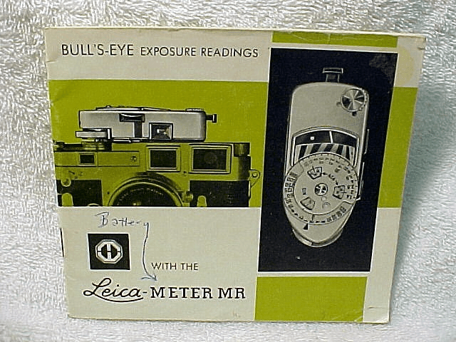Leica Meter MR instruction, 22pgs, 1963