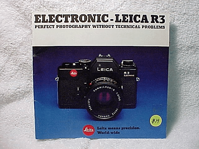 Leica R3 Electronic Booklet, 39 pgs, c 1977.