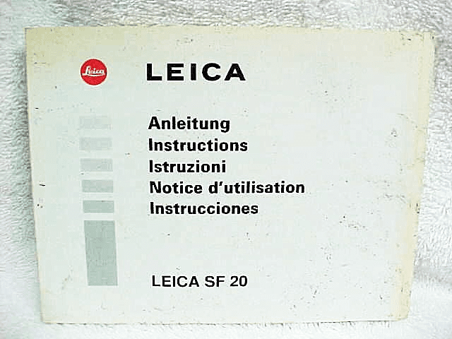 Leica SF-20 Flash Instrucitons (M6 TTL)