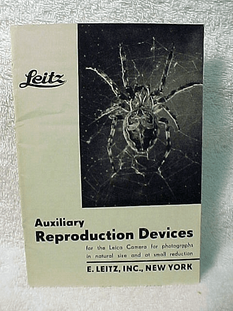 Leitz Auxilary Reproduction Devices, 23pgs, 1949, (screw mount)