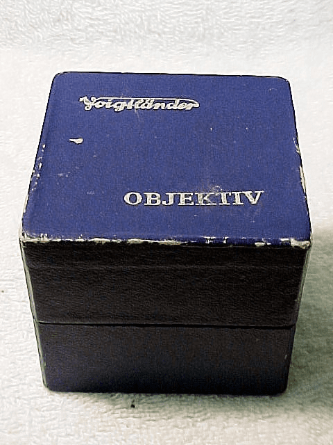 Lens BOX for a 50mm f2 Ultron Lens for Voigtlander Prominent