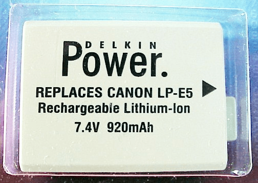 LPE5 Battery (Delkin Devices) for Canon. New