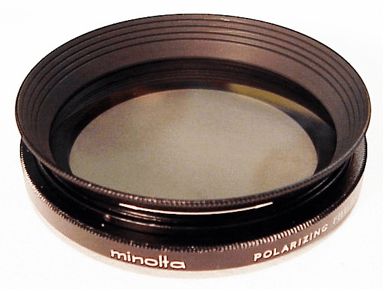 Minolta SRT 55mm Polarizer with built in hood for 50mm f1.4