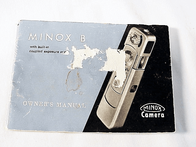 Minox B Instructions (xerox) (No 30)