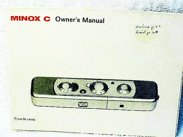 Minox C Instructions 33pgs (xerox)