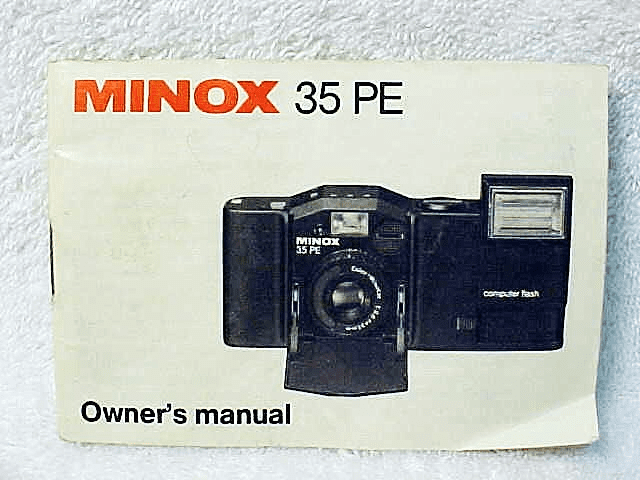 Minox PE instructions (Original)