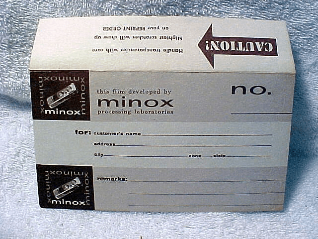 Minox Processing Envelope