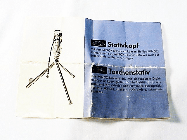 Minox Tripod Instructions  (No 28)