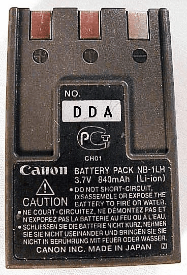 NB-1LH Canon Nicad Battery (used)