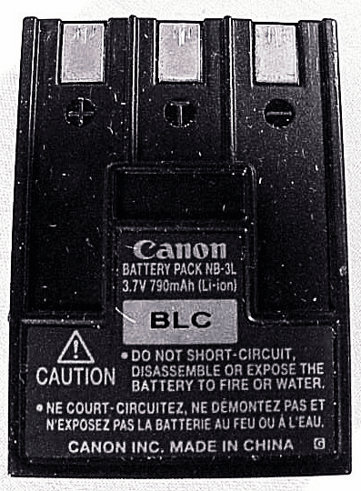 NB-3L Canon Nicad Battery (used)