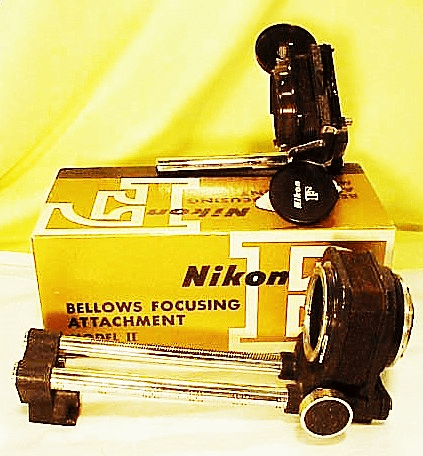 Nikon F Macro Bellows Model II and Slide Copying Attachment