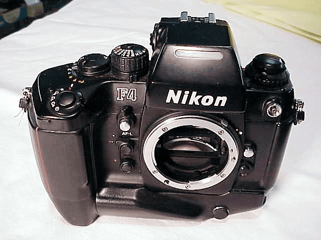 Nikon F4 with DP-20 Prism and MB-21 Battery Booster