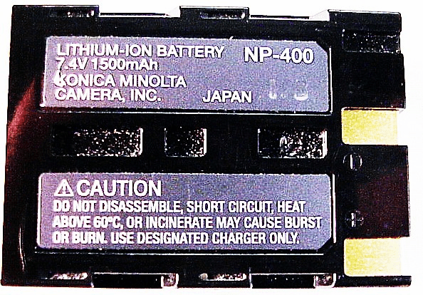 NP-400 Battery for Maxxum 5D Digital Used