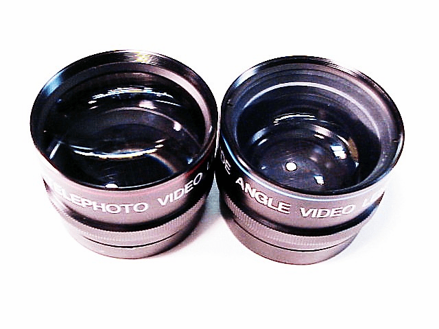 Optex Auxillary Video Telephoto and Wide Angle 52mm mount