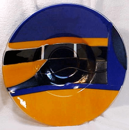 Orange and Blues Large Bowl (No 11)