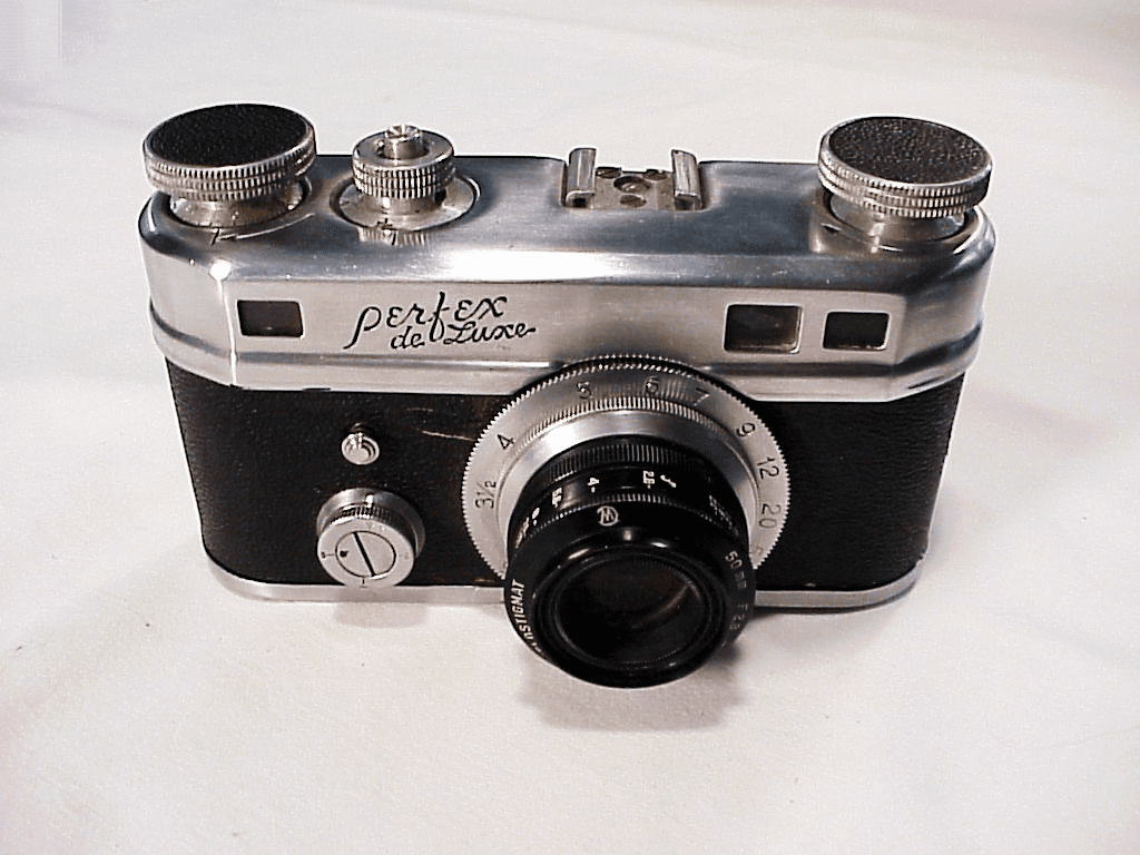 Perfex Delux 35mm Rangefinder Camera (Made in USA) (user camera)