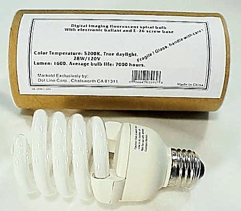 Photoflood CFL Screw base Bulb (7000 hours) Digital Imaging