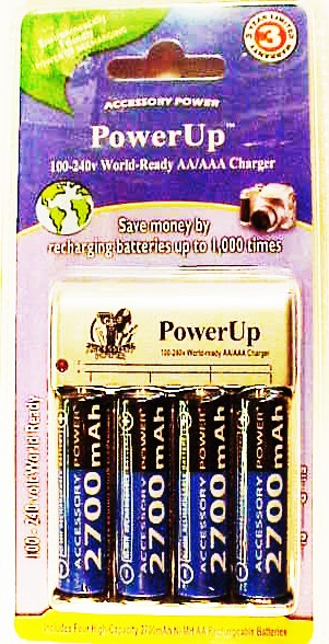 Power Up Charger with 4 high capacity 2700 mAh Ni-MH AA's