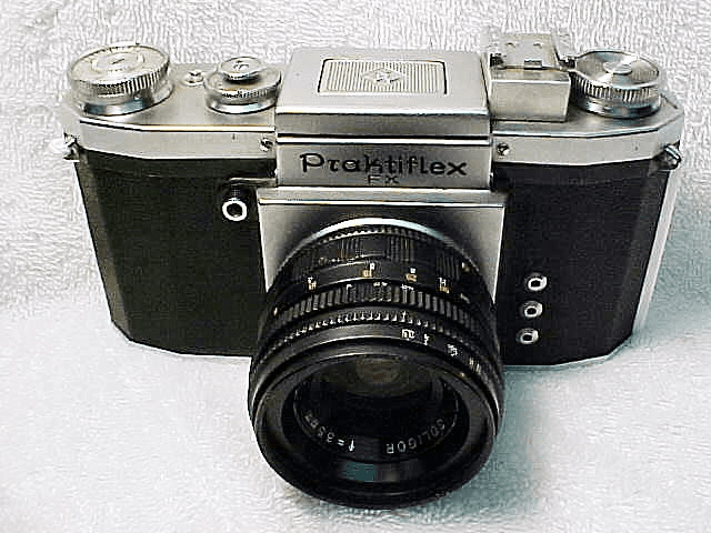 Praktiflex FX with waist finder and 35mm f3.5 Soligar Lens
