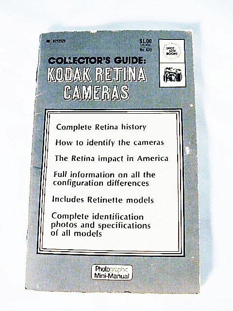 Retina Collectors Guide, 64pgs, pictures,1973