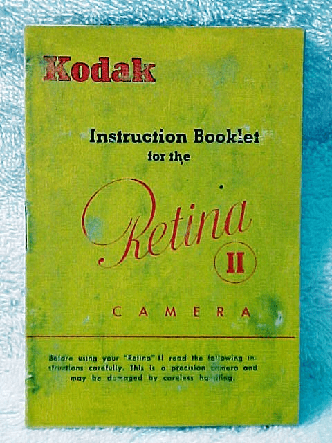 Retina II Instructions (xerox copy)